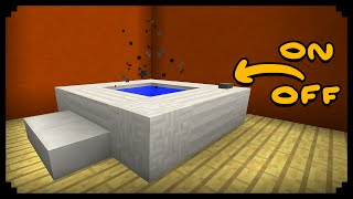✔ Minecraft: How to make a Working Hot Tub (Improved Version)