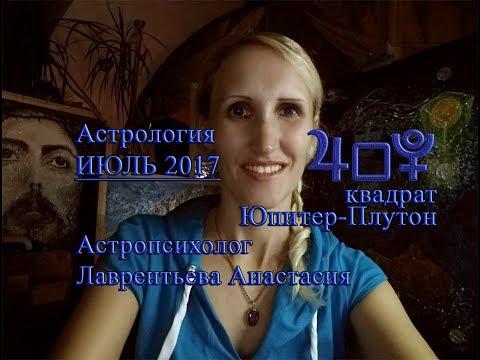 Квадрат ЮПИТЕР-ПЛУТОН и Аспекты на ИЮЛЬ 2017 подробно