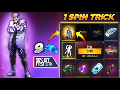 FREE FIRE NEW EVENT - NEW FADED WHEEL FREE FIRE   FF NEW EVENT   NEW FADED WHEEL 1 SPIN TRICK