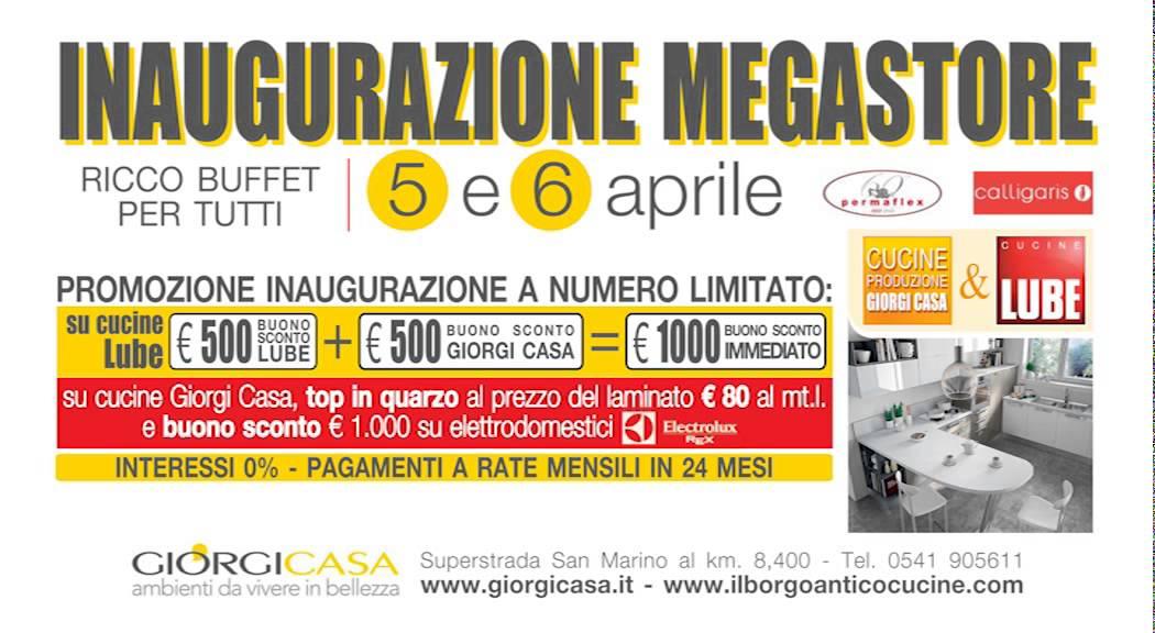 GIORGI CASA - SPOT INAUGURAZIONE 5-6 APRILE 2014 - YouTube