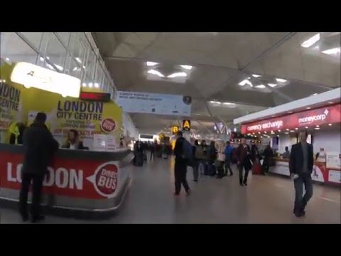 Stansted Airport UK Looking for Lunch Place Before Ryanair Flight