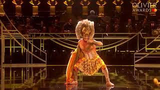 Disney's The Lion King performance at the Olivier Awards 2019 with Mastercard