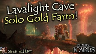 Lavalight Cave Solo - Easy Gold Farming - July 2016 - Riders of Icarus