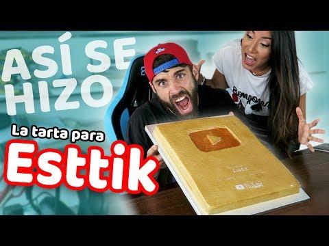 PASTEL PLACA DEL MILLÓN DE SUSCRIPTORES | TARTAS PARA YOUTUBERS - ESTTIK | Quiero Cupcakes!