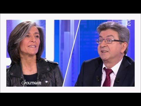M.P. Schmitz, patronne face à Jean-Luc Mélenchon - C politique - 13/03/2016