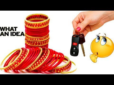 DIY Best out of Waste Bangles Craft - How to Reuse Old Bangles at Home - Old Bangles Craft Ideas