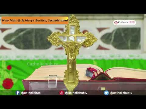 English Mass @ St Mary's Basilica, Secunderabad, TS, INDIA 21 07 18