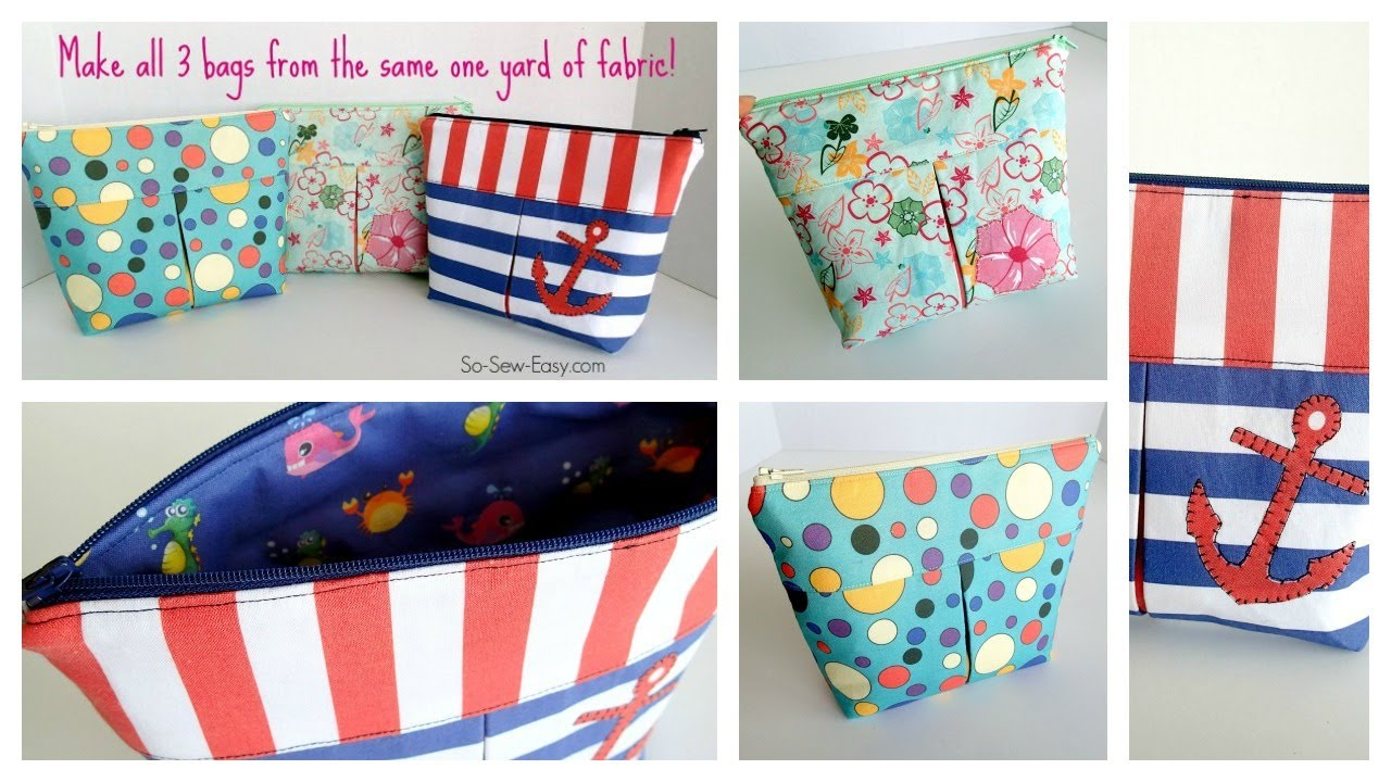 Sew easy cosmetics bags. So Sew Easy f083d4ad57fa1