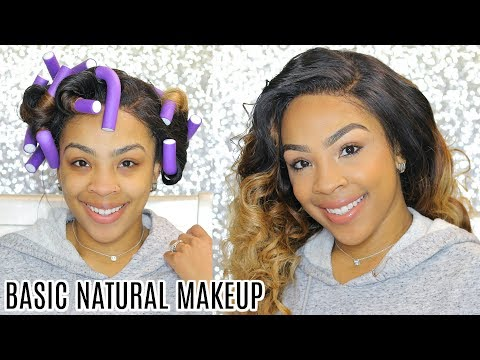 Easy Natural Makeup Look + Easy way to style your hair! | Nadula Hair | Back to School Hair Look