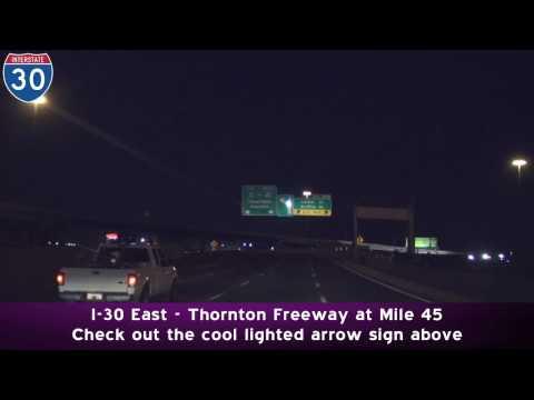 Downtown Freeways at Night: Dallas Texas