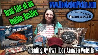 Real Life of an Online Reseller HookedonPickin.com Creating my own Amazon & Ebay Website Via Shopify