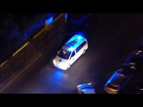 Mercedes Vito Private Ambulance Responding in Marseille (3x)