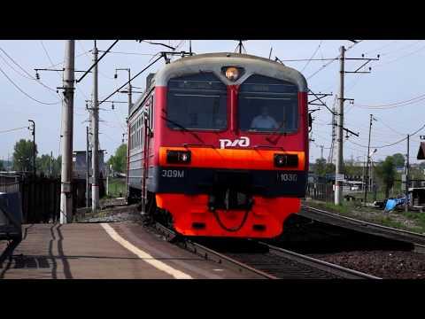 Электропоезд Иркутск-Пассажирский - Зима