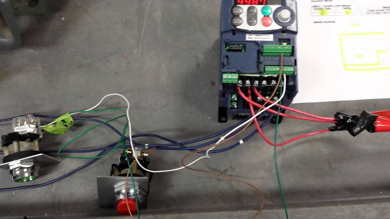 Fugi inverter starter wiring start stop YouTube