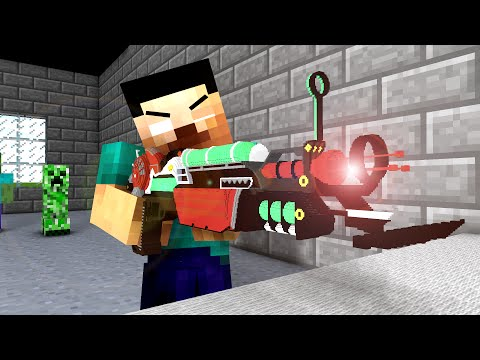 Monster School : Shooting Lessons ! - Minecraft Animation