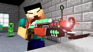 Monster School : Shooting Lesson ! - Minecraft Animation