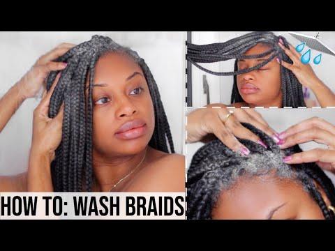HOW TO WASH BOX BRAIDS AND TWISTS | NO FRIZZ!