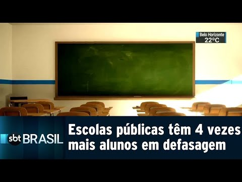 Número de alunos 'atrasados' no ano escolar é maior na rede pública | SBT Brasil (30/07/18)