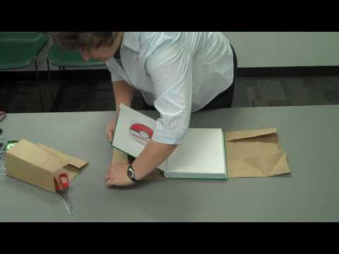 "Paper Bag Text Book Cover ""How To"""