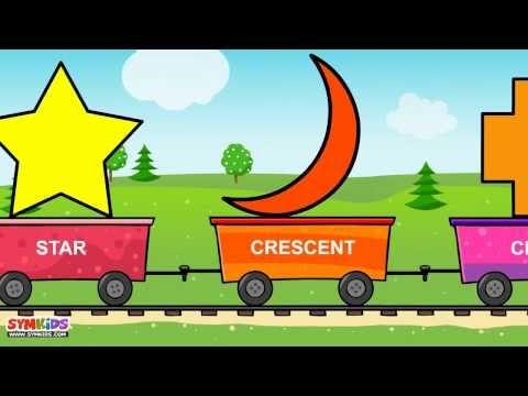 shapes train  shapes for children  2d shapes  shapes song