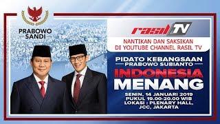PIDATO KEBANGSAAN PRABOWO SUBIANTO - INDONESIA MENANG