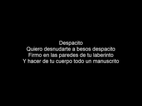 Luis Fonsi Despacito - Lyrics