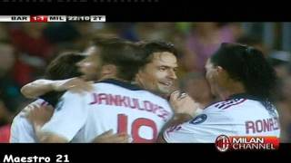 Super Pippo inzaghi Goal on Barcelona - 25/08/2010