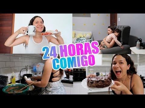 24H COMIGO: Rotina do dia, Bolo de chocolate, Organização da casa e mais