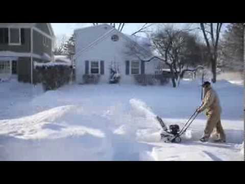 Digging out of snow in Arlington Heights
