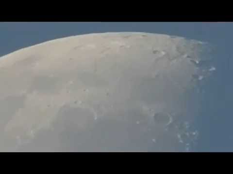 The Sun and Transparent Moon July 26, 2016 at 6:46-7:06 AM  Visalia, CA Nikon CoolPix P900