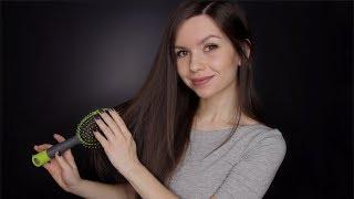 ASMR - Hair Brushing & Affirmative Whispers 💖