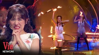 Hari Won đau tim với màn múa lửa của cô gái xinh đẹp | Ai Là Số 1