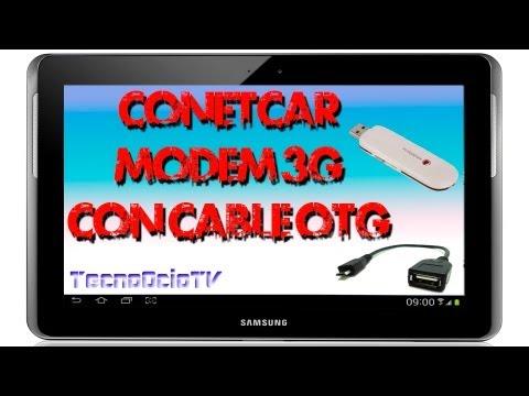 COMO CONECTAR MÓDEM USB A TABLET CON CABLE OTG