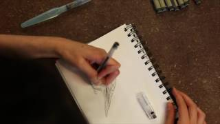 PILOT G-TEC-C4 needle tip watersoluble pen for sketching - a review by LarryPOST