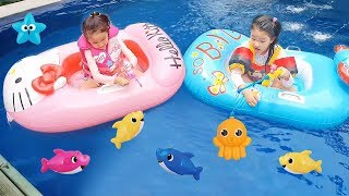LoveStar catch fish and play swimming
