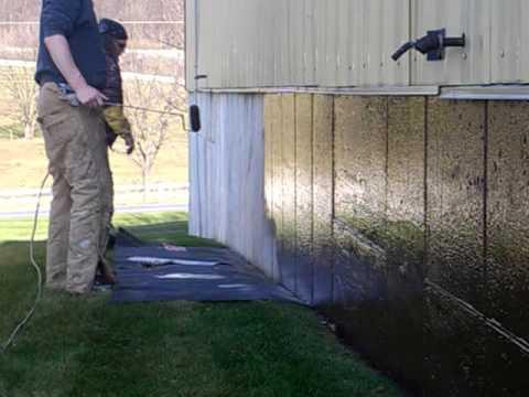 Waterproofing exerior foundation