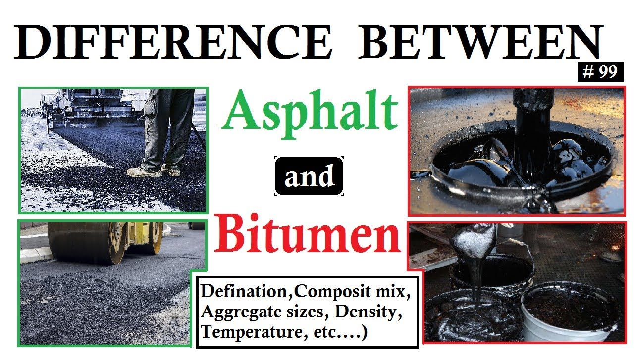 Difference between Asphalt and Bitumen | Comparison between them