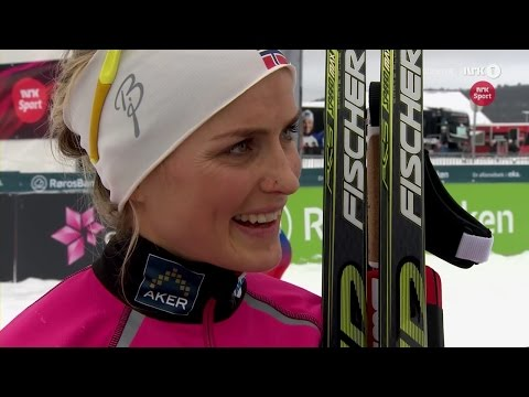 Interview with Therese Johaug after gold in 10 km on the Norwegian Championship