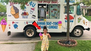 Sally buy ice Cream from a real ice Cream truck!! family fun vlog