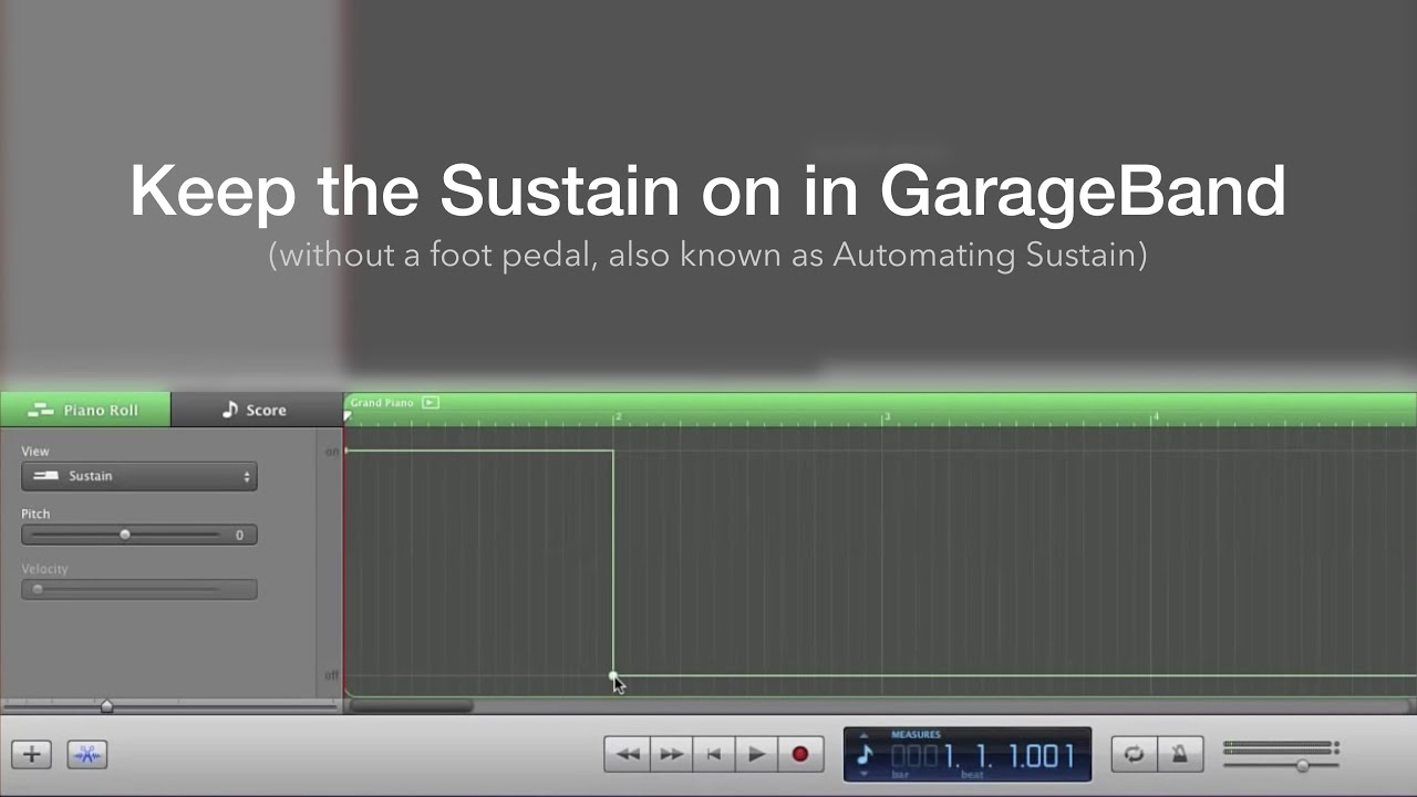 Keep the Sustain on in GarageBand (without a foot pedal)