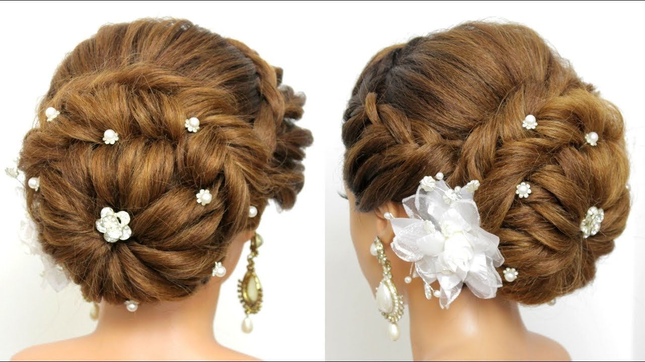 Bridal Updo Tutorial. Wedding Prom Hairstyles For Long Hair - Easy  Hairstyles For Long Hair