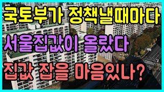 국토부는 서울집값을 올리기위한 정책만을 폈다