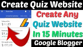 Create Quiz Website In Blogger |How To Make Quiz Website | Quiz Website| Quiz Website Google Blogger