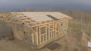 Каркасный гараж/мастерская 50м2 в одиночку(Строительство каркасного гаража в одиночку. работы проводились с ноября 2015 по февраль 2016. Здание 5х10м. высо..., 2016-02-21T14:47:07.000Z)
