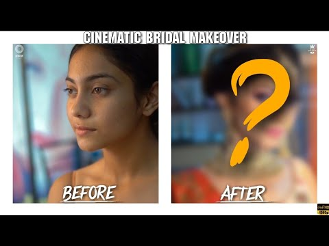 Stunning makeup transformation | before n after|Indo western bridal makeup look full Cinematic |2019