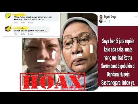 HOAX | Kasus Ratna Sarumpaet Dianiaya Sampai Babak Belur...
