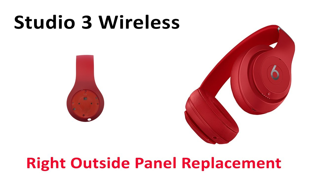 Tutorial How To Repair Replace Broken Right Outside Panel Studio 3 Wireless Youtube