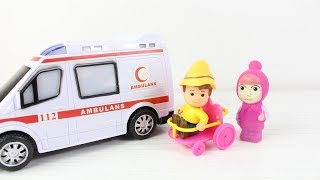 Masha Peter Neden Yardım Ediyor? Masha Ambulans Çağırıyor Çizgi Filmler