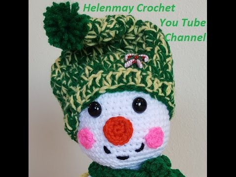 Crochet snowman in Christmas outfit - Amigurumi Today | 360x480