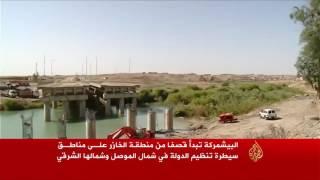 البشمركة تقصف مناطق سيطرة تنظيم الدولة بشمال الموصل